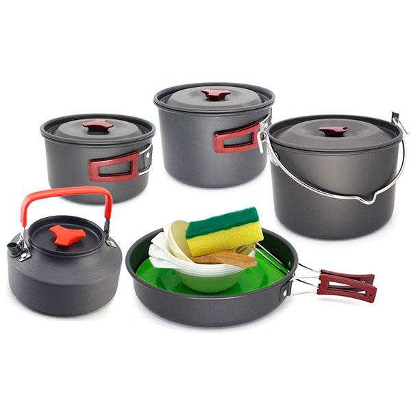 Аксессуары для загородного отдыха на природе(набор походной посуды)