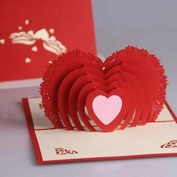 Красивая открытка-валентинка