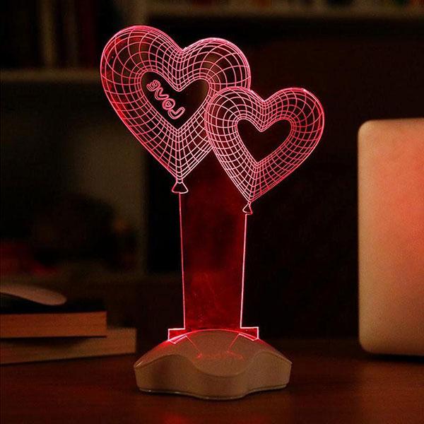 Необычный светильник в форме сердца