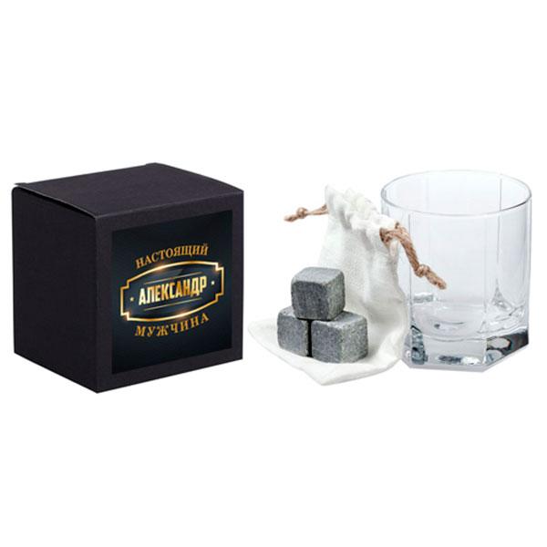 Набор для виски: камни и именной стакан