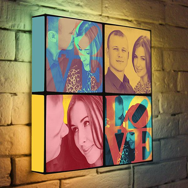 Светильник с фотографией «Pop-art»