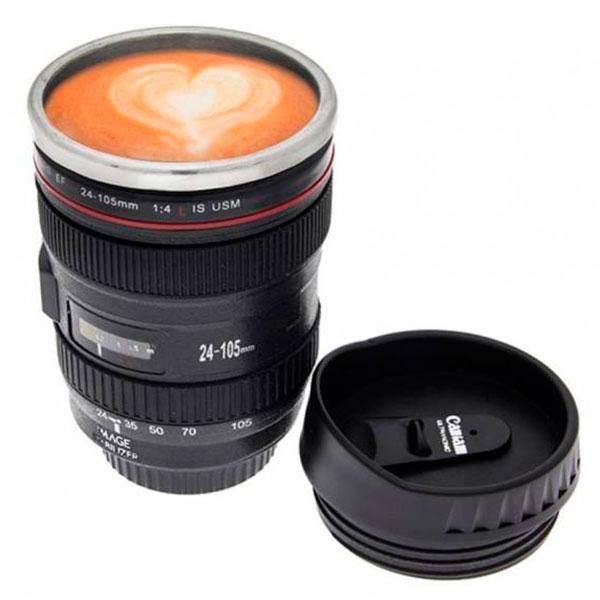Термокружка в виде фотообъектива для фотографа
