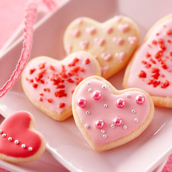 Вкусное печенье в виде сердец