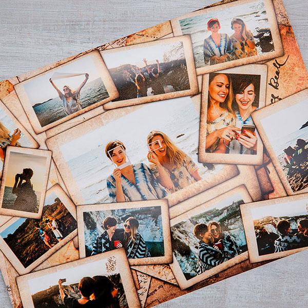 Постер-фотоколлаж из фотографий подружки