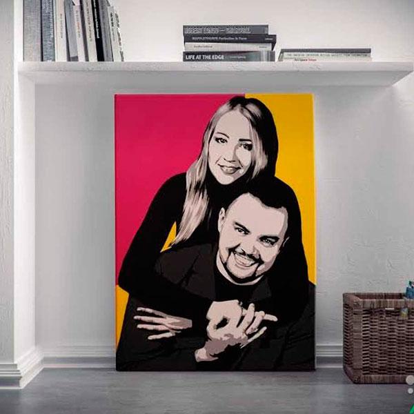 Картина, сделанная из вашего совместного фото