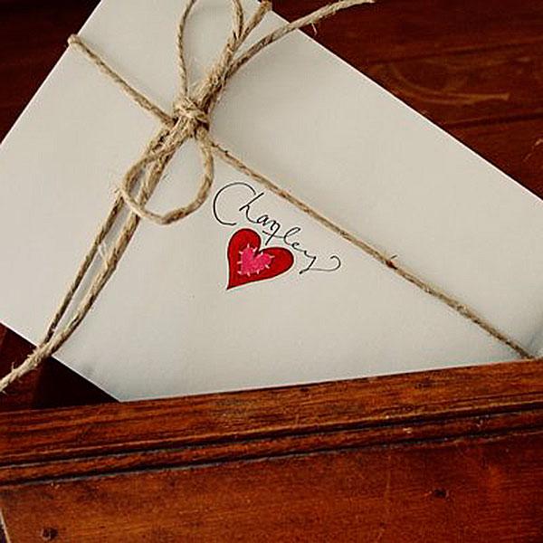 Письмо, настоящее, в конверте