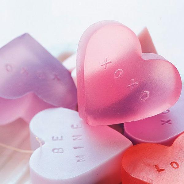 Мыло руной работы в форме сердца