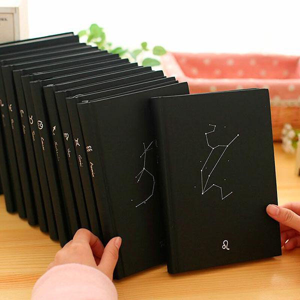 Набор необычных тетрадей для школы с черными листами
