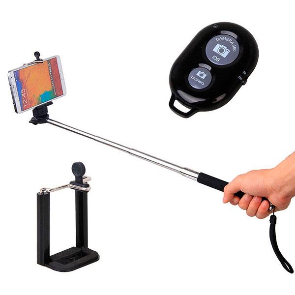 Селфи-палка или bluetooth селфи кнопка