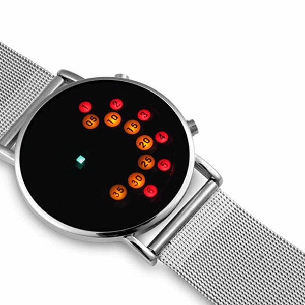 Модные наручные бинарные часы