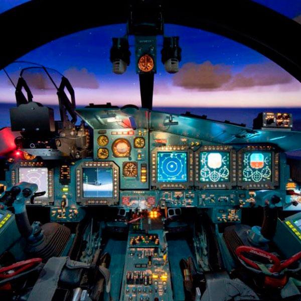 Полёт на симуляторе современного истребителя