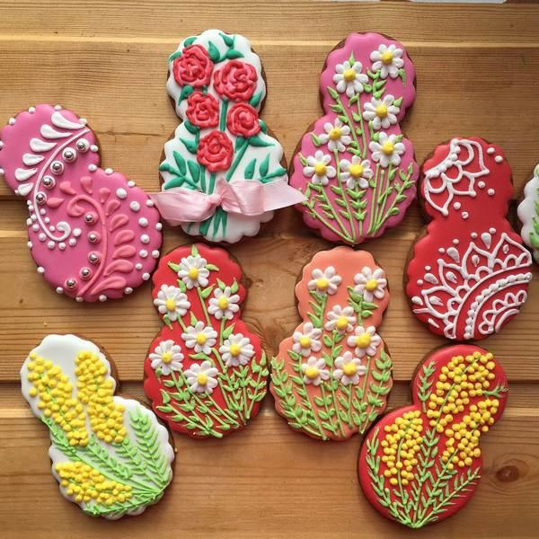 Печенье в форме восьмерки